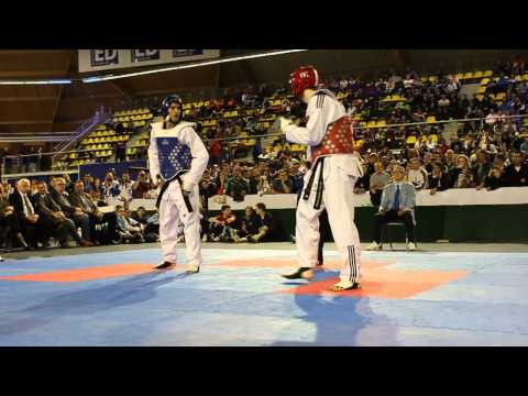 taekwondo - Great Britain vs Argentina -80KG Olympic players Aaron Cook and Sebastian Crismanich faced each other in the final of the Dutch Open Taekwondo Championships ...