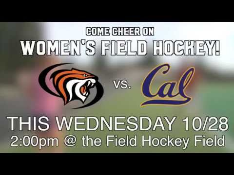 Field Hockey vs. Cal 10/28 - promo