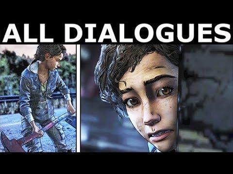 The Bridge Scene - All Dialogues & Choices - The Walking Dead Final Season 4 Episode 4: Take Us Back