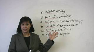How to minimize problems, Business English