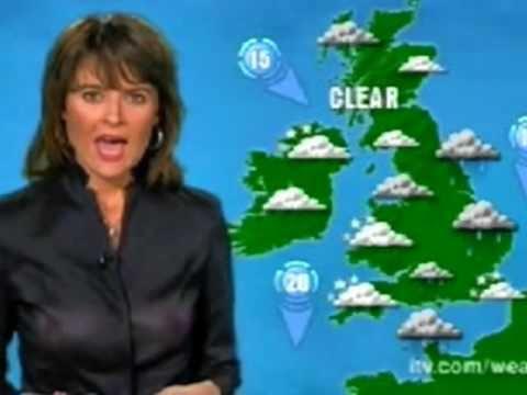 Chrissie Reidy [ITV Weather] - See thru top & no bra.