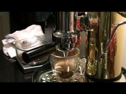 Elektra Microcasa La Leva Espresso Shot and Latte