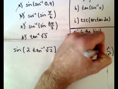 Inverse trigonometrische Funktionen, Teil 3