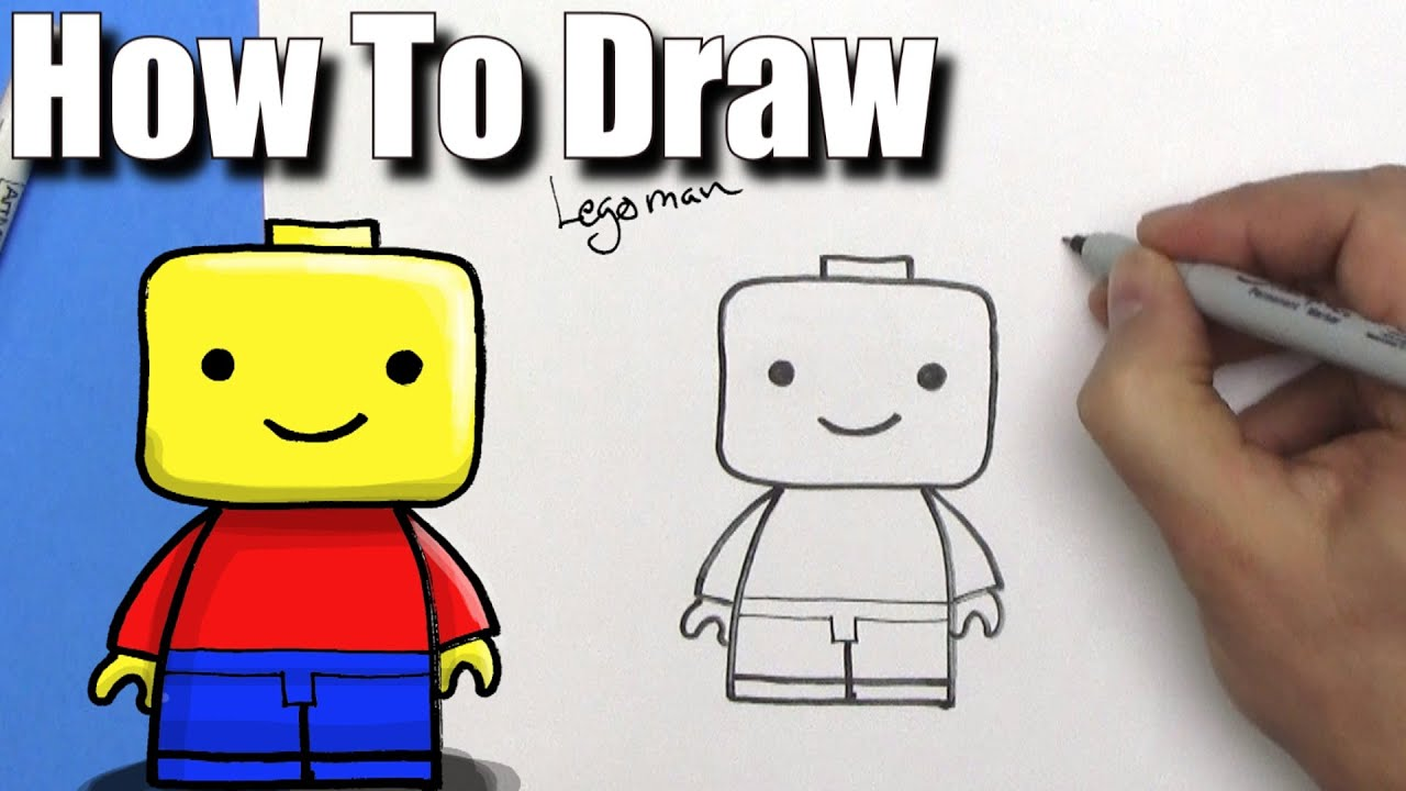 How To Draw A Cute Easy Lego Man Easy Chibi Step By Step How To Draw