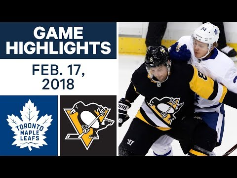 Video: NHL Game Highlights | Maple Leafs vs. Penguins - Feb. 17, 2018