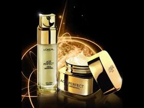 L'Oreal Age Perfect Cell Renewal Golden Serum & Night Cream | African American Skin