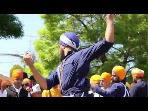 gatka - some footage from the stockton nagarkirtan , CA USA.