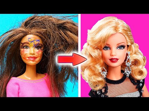 DIY Barbie Doll Hairstyles  How To Make Barbie Hairstyle  Creative Fun for Kids