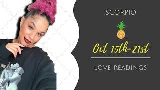 "SCORPIO OCTOBER 15-21 ""DIVINE TIMING💫""WEEKLY LOVE READING💕🍍💕"