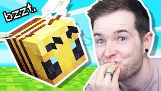 Playing with NEW Minecraft BEES!