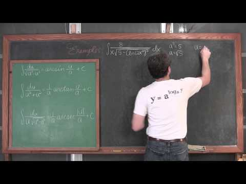 Integrating Inverse Trigonometric Functions 6 Examples
