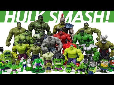 Hulk Smash Toys Collcections Episode 1. Go~! Avengers, Iron Man, Captain America, Spider Man