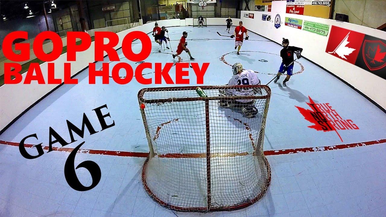 GoPro Ball Hockey Game 6 | 4 GoPro's! | HD 60fps