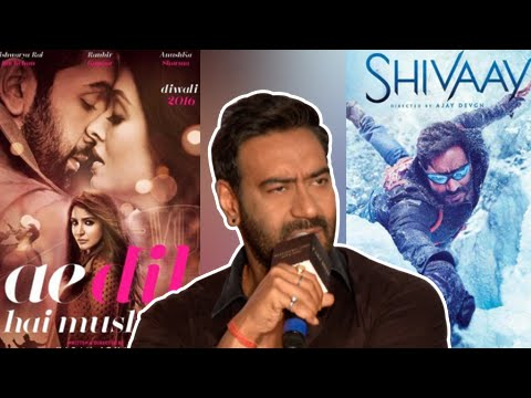 Ajay Devgn ANGRY On Reporter | Shivaay And Ae Dil