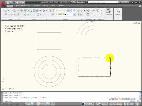 AutoCAD Tutorial - Using the OFFSET Command