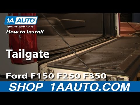 How To Install Remove Replace Tailgate Ford F150 F250 F350 92-96 1AAuto.com