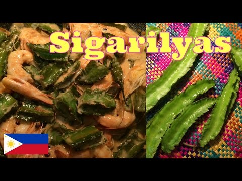 Philippine Cooking: Ginataang Sigarilyas (In Hiligaynon and English)