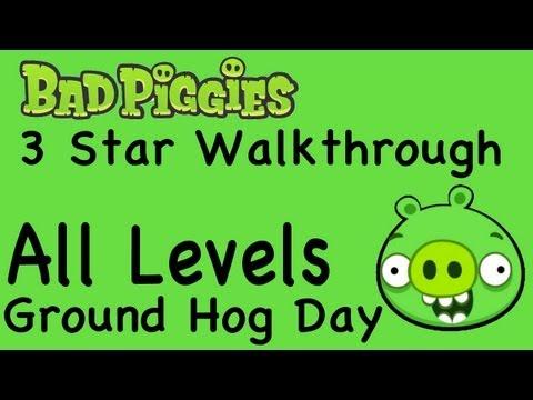 Bad Piggies - All Levels Ground Hog Day Levels 3 Star Walkthrough 1-1 thru 1-IX | WikiGameGuides