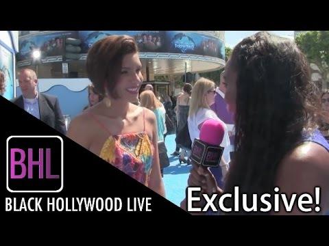 Juliana Harkavy @ Dolphin Tale 2 Premiere | Black Hollywood Live Interview