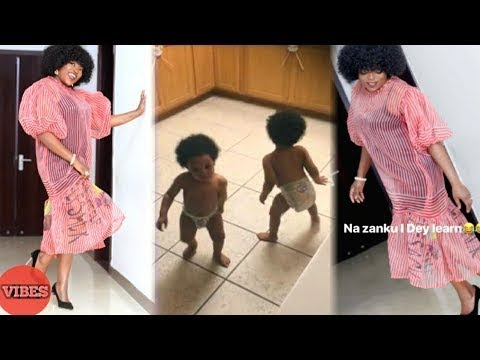 This will Move you! Proud Mother, Actress Funke Akindele dancing For her twin sons