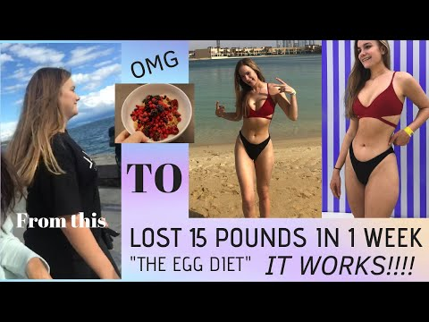 I LOST 15 POUNDS IN 7 DAYS || lose weight fast || EGG DIET // Cat Rowan