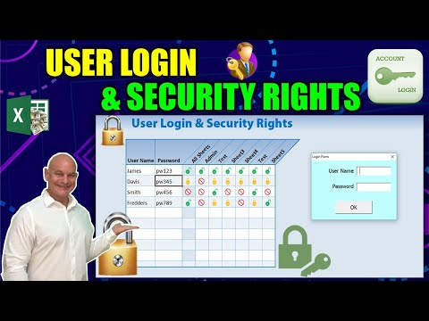 The AMAZING TRICK To Add Different User Security Rights to ANY Excel Sheet and User Login