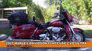 8. Used 2007 Harley Davidson CVO Ultra Classic Electra Glide Motorcycles for sale