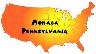 Monaca (PA) United States  city pictures gallery : How to Say or Pronounce USA Cities — Monaca, Pennsylvania