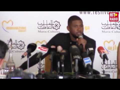 Conférence de presse avec Usher à Mawazine 2015 sur HIT RADIO