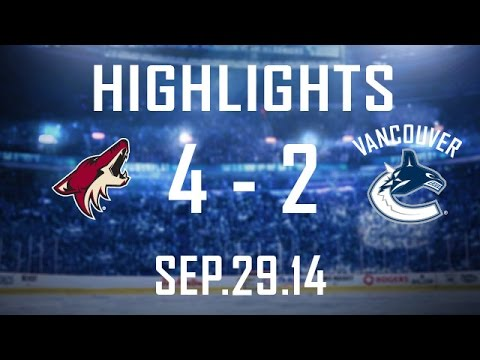 Canucks - Derek Dorsett gets his 1st as a Canuck and Radim Vrbata tallies against his former club but Vancouver falls 4-2 at home to the Arizona Coyotes. If you want to keep up to date with all the...
