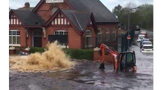 7. Wednesbury flood with 9ft deep. Major pipe bust