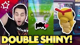 MY LUCK IS WILD! DOUBLE SHINY in Pokemon GO! by aDrive