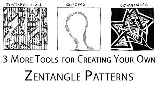 This step by step tutorial teaches you how to doodle your own Zentangle patterns. Following last week's tutorial, we discuss three extra tools that Zentangle...