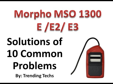 , title : 'Morpho MSO 1300 Solutions for 10 Common Problems'