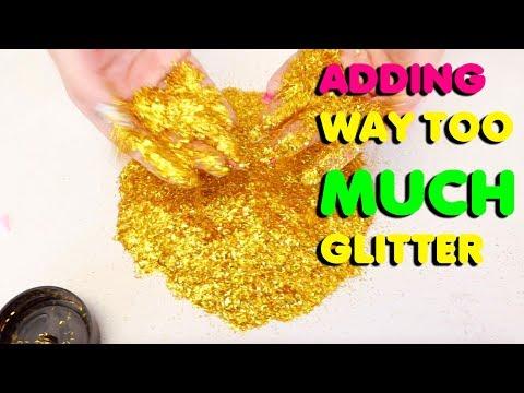 ADDING TOO MUCH GLITTER IN SLIME Slimeatory #501 | Youtube Search RU