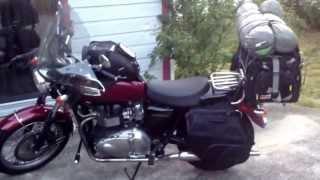 6. Touring Motorcycle Luggage - Triumph Bonneville Tank Bag, Saddlebags