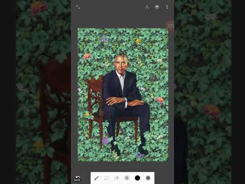 Obama's New Smithsonian 3-D Portrait - 6 Fingers and Demon Horns/Antennae