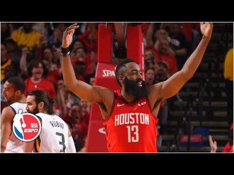 James Harden's near triple-double leads Rockets past Jazz in Game 1 | NBA Highlights