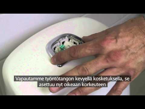 Nautic wc:n huuhtelupainikkeen vaihto FI