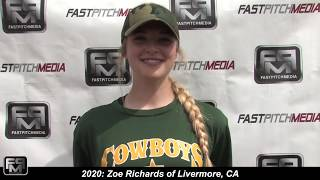 2020 Zoe Richards Third Base Softball Skills Video