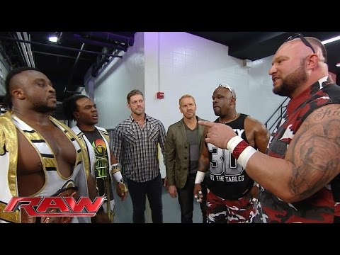 Seth Rollins, The New Day, Edge & Christian and The Dudley Boyz cross paths: Raw, September 7, 2015 (видео)