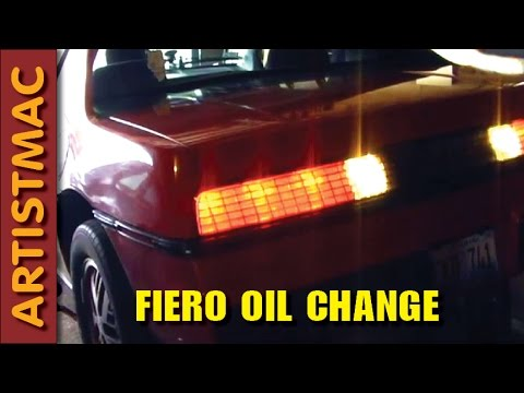 Oil Change in a Pontiac Fiero