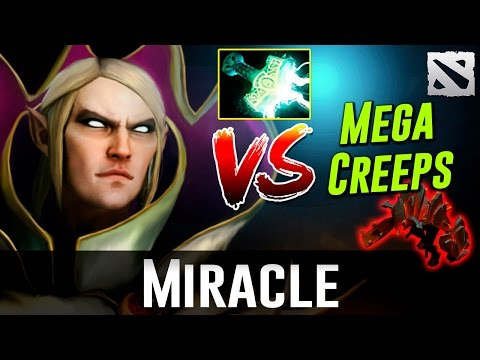 Miracle Invoker VS MegaCreeps Dota 2