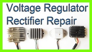 9. how to repair a voltage rectifier regulator  charging system