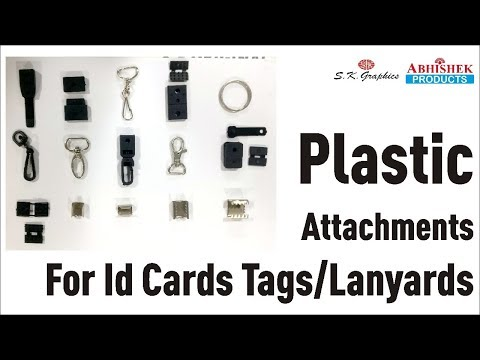 New Plastic Joint Attachment For Id Cards Tag, Lanyard And Multicolour Tags