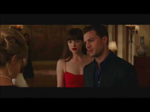 Fifty Shades Darker Mrs Robinson Elena gets slapped scene