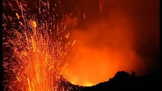 Awesome timelapse video day into night at Yasur Volcano , Tanna Island, Vanuatu.