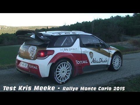 test rally monte carlo 2015 - kris meeke citroen ds3 wrc.