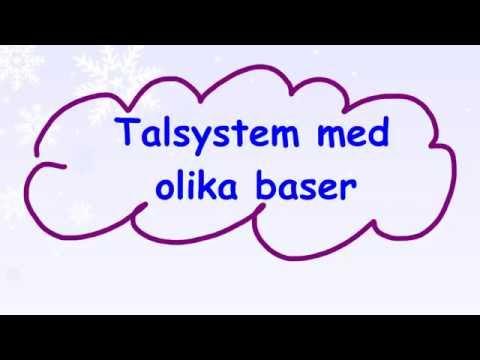 1.3.5 Talsystem med olika baser