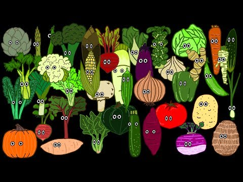 Vegetable Song - The Kids' Picture Show (Fun & Educational Learning Video)